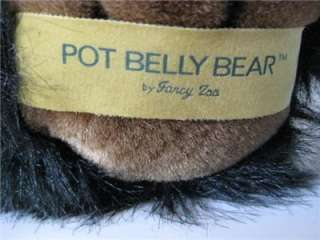 Fancy Zoo Large 15 tall Pot Belly Black Brown Bear EXC |
