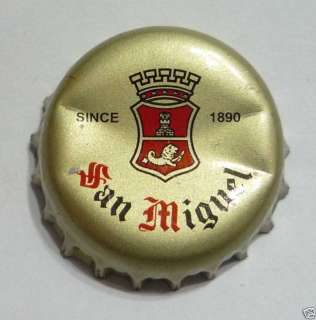 SAN MIGUEL BEER Bottle Cap Crown SINGAPORE Gold