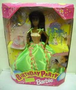 995 NRFB Birthday Party African American Barbie Doll