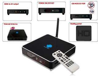 Android 2.3 TV Box Media Player Google Smart TV HD 1080P HDMI Wireless