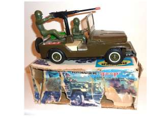NOMURA / TN Japan Tinplate 1960s ARMY RANGER JEEP / Box