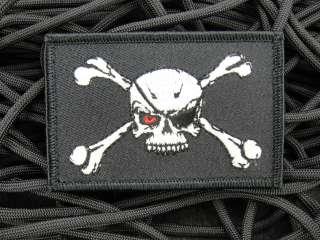 ill Gear MODERN DAY EVIL BLACKBEARD Pirate Flag Velcro Patch Glow in