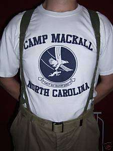WW2 Airborne Paratrooper 101st Camp Mackall Army Shirt