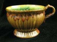 Vintage Stangl Colonial 1388 Brown Green Coffee Tea Cup
