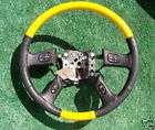 NEW Hummer H2 YELLOW Wood Steering Wheel Tahoe Escalade
