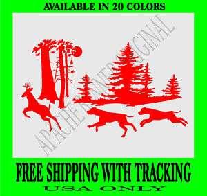 DEER Hunting DOG DEER HUNTING BUCK Decal Deer 3243D
