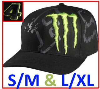 NWT $35 FOX RACING MONSTER Logo Mens RC 4 CARMICHAEL FLEXFIT Baseball