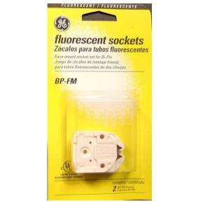 GE Face Mount Sockets for Medium Bi Pin Fluorescent Lamps (2 Pack