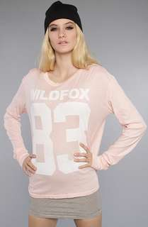 Wildfox The Wildfox 83 Evening LS Crew Tee in Barefoot Pink