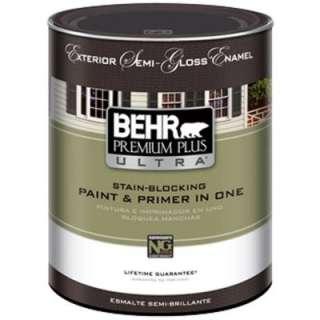 Premium Plus Ultra1 qt. Semi Gloss Acrylic Latex White Exterior Paint