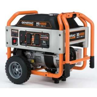 Generac XG4000, 3600 Watt Gasoline Powered Portable Generator, CARB
