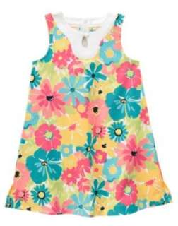 NWT Janie & Jack Poolside Palms Floral Dress 2T 3 4 5 Shift Flower