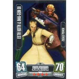 Star Wars Force Attax Serie 2 Einzelkarte 219 Eeth Koth & Ima Gun Di