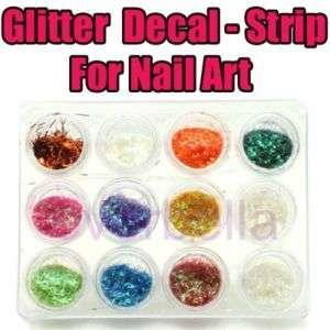 Glitter Dust Sticker deco for Nail Art FREE NAIL GLUE G