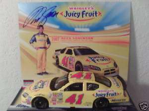 2007 Reed Sorenson 41 JUICY FRUIT 1/24 Action NASCAR diecast