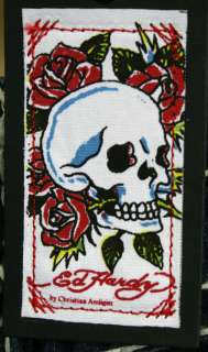 ED Hardy Womens Tank Skull Roses Black One Size Shirt