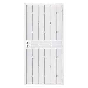 Unique Home Designs Cabo Bella 32 in. x 80 in. White Security Screen