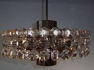 SCIOLARI STYLE CRYSTAL GLASS LAMP CHANDELIER 1970 AF61