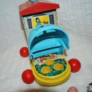 PRICE Little People Music Box Lacing Shoe Pull Push Toy WORKS