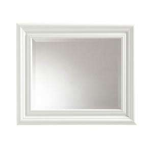 Placid 22 1/2 in. x 26 1/2 in. Framed Wall Mirror in High Gloss White