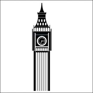 Wall Stickers Vinyl Art Decal London building Big Ben