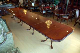 Large Mahogany Chippendale Dining Table