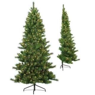 STERLING, INC. 7 Ft. Pre Lit Half Tree Tiffany Pine Tree 3804 70c at