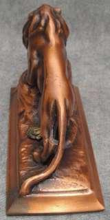 Vintage Bronzed Metal LION Statue Lions Intl.Figurine