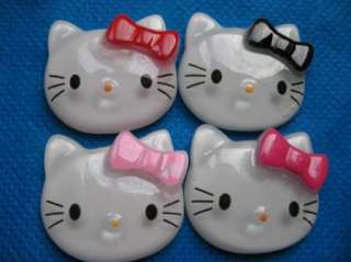 20 Large Resin Hello Kitty Buttons Flatback 4 Colors K018