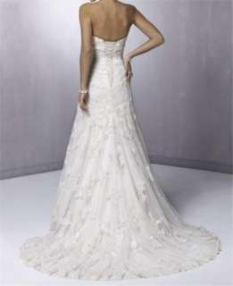 White/Ivory Beautiful Bridal Wedding Dress Formal Gown Custom size and