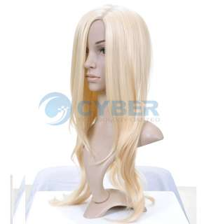 NEW Stylish Long Wavy Blonde Cosplay Wig/Wigs Golden