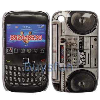Radio cassette player Hard Cover Case For Blackberry Curve 8520 8530