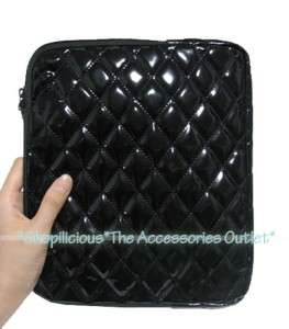 TAB 7/8.9/10.1 TABLET BLK QUILTED PATENT LEATHER CASE SLEEVE