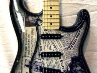 Custom NIRVANA Kurt Cobain FENDER Standard Stratocaster Guitar