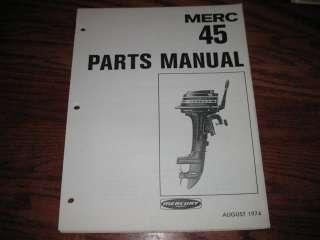 1970s Mercury 4.5 hp 45 outboard parts catalog