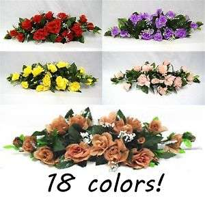 18 Colors~ 23 in Silk Rose Swag Wedding Flowers Spray