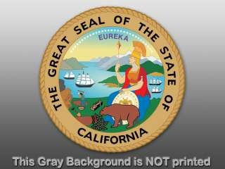 Round California State Seal Sticker decal logo CA great