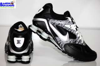 New Womens Nike Shox Heritage Running Shoes Black Metallic Silver Max