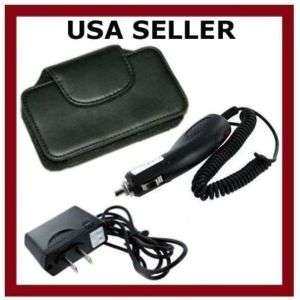 LEATHER CASE+CAR+WALL CHARGER FOR SAMSUNG ALIAS 2 U750