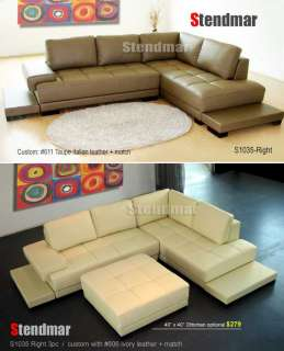NEW MODERN EURO DESIGN LEATHER SECTIONAL SOFA SETS 1035