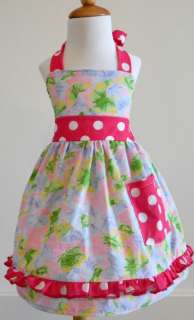 GIRLS CUSTOM BOUTIQUE BRIGHT BUTTERFLY HALTER DRESS