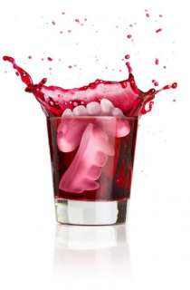 Cold Blooded Vampire Fangs   Ice Cube tray Party Item