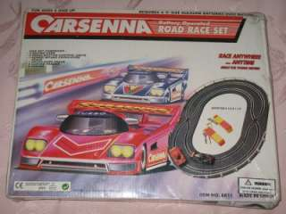 CARSENNA ROAD RACE CAR SET   BATTERY OPERATED BRAND NEW