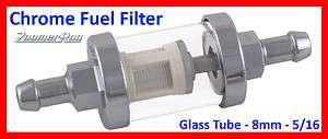 Small Inline Fuel Filter Petrol Diesel BioVeg 8mm   REUSABLE