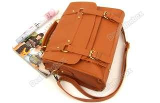 Style Womens PU Leather Messenger Bag Retro Handbag Shoulder Bag