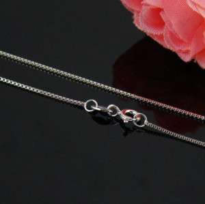 Italy 18inch 925 sterling silver Box chain necklace
