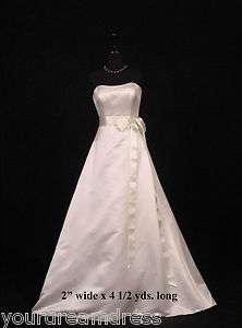 Ivory Double Faced Satin Ribbon Sash Bridal Wedding Bridesmaid Brand