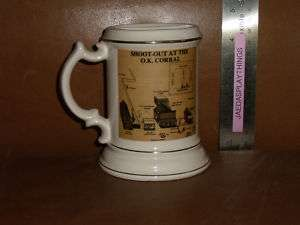 VTG Enesco Shootout At OK Corral VIRGIL EARP Mustache Stein Mug FREE