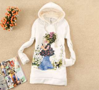 Womens Comic Girl Long Sleeve Pullover Hoodie Sweatshirt Outerwear
