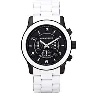 Michael Kors Oversized White Silicone Mens Watch MK8178